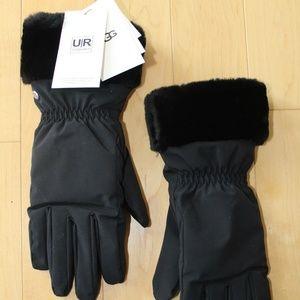 UGG Women's Shearling Cuff Leather Tech Gloves